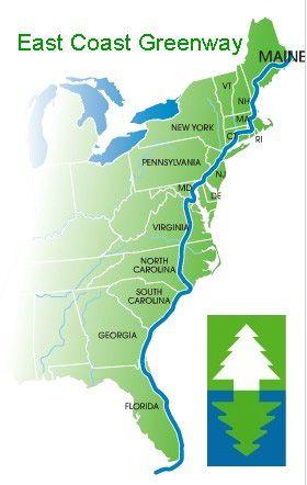Awesome East Coast Greenway Map