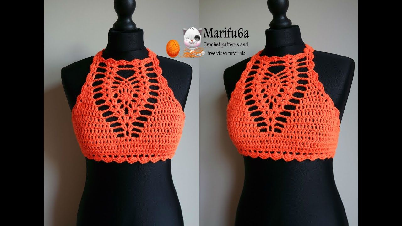 Photo of How to crochet easy halter top all sizes pattern by marifu6a