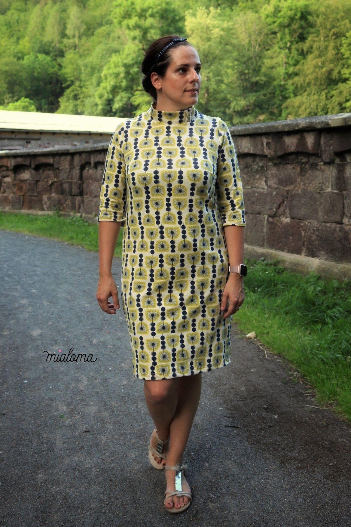 modisches kleid mit stehkragen nähen   kleid mit stehkragen