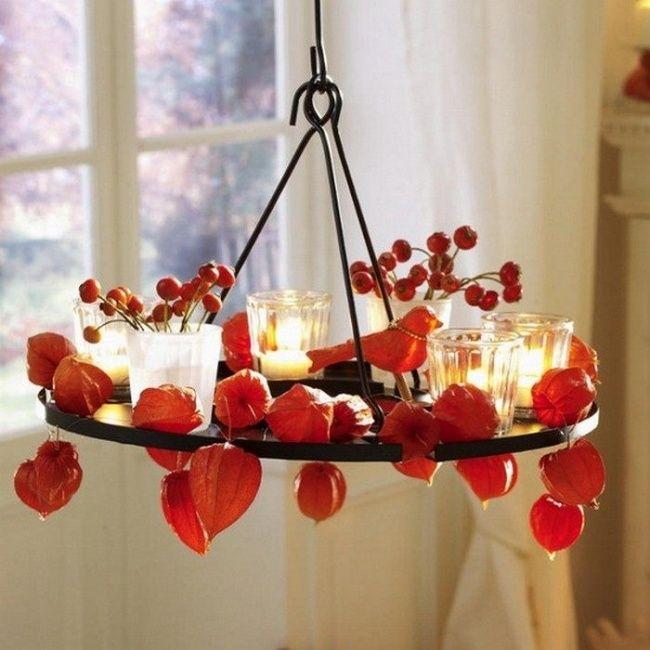 Впусти осень в свой дом diy laps lights освещение Pinterest