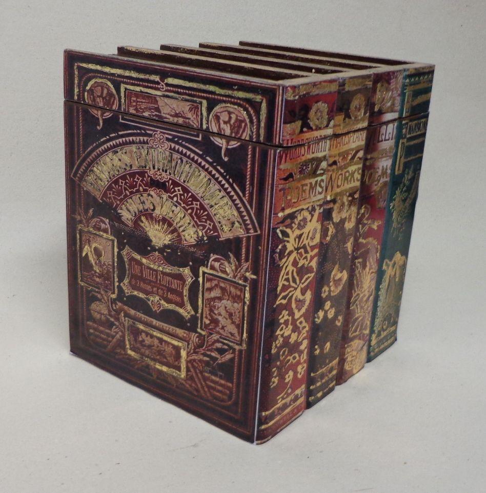 Caixa livro com decoupagem www.arteeideias.com.br