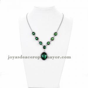 collar grandes de esmeralda noble brillantes para mujer -ACNEG106042