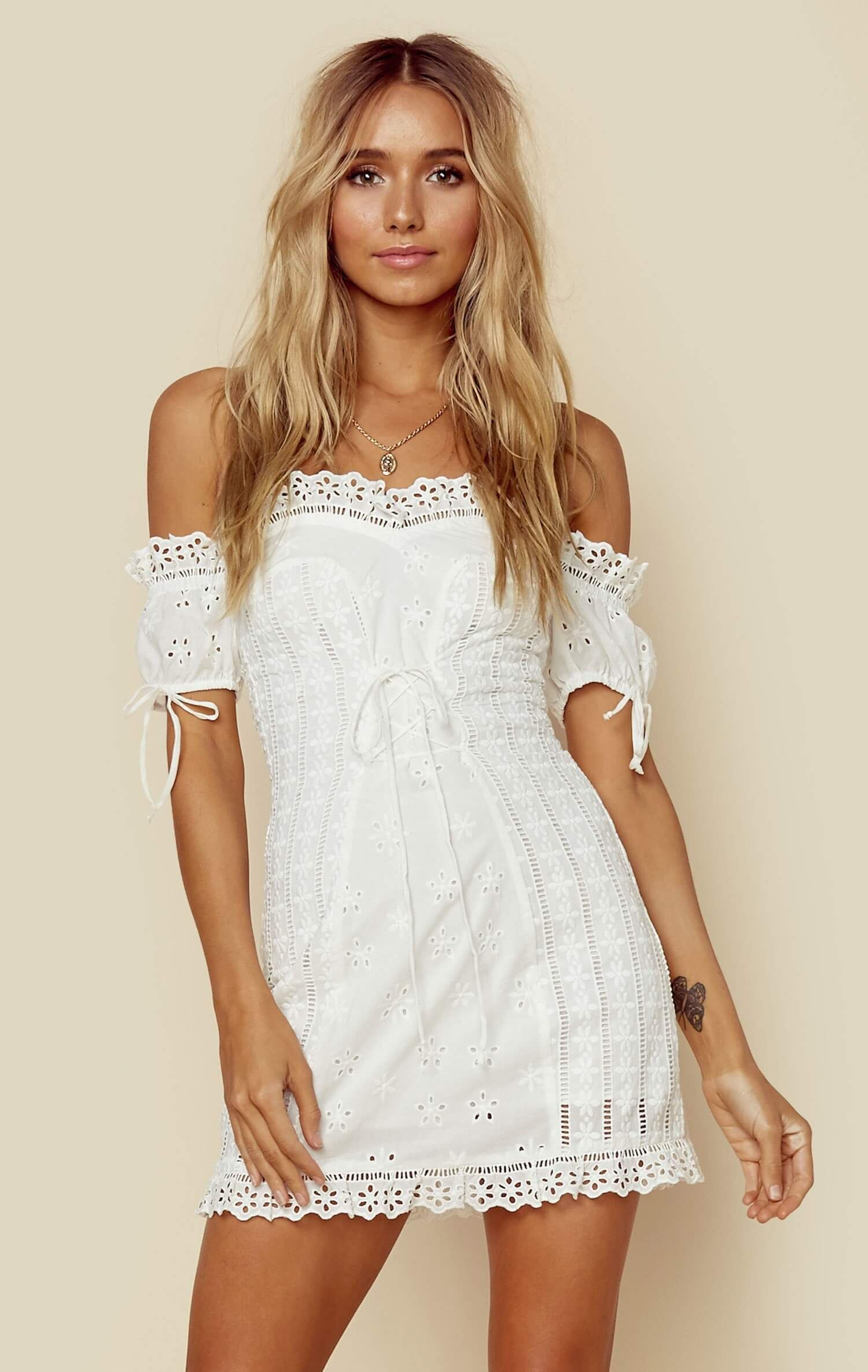 452d1283b8 Anabelle eyelet lace up dress