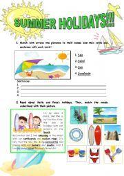 english worksheet summer holidays summer printbles worksheets vocabulary worksheets holiday. Black Bedroom Furniture Sets. Home Design Ideas