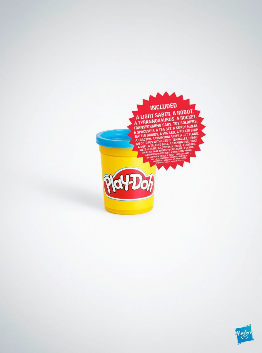 Play-doh can be made into anything appaerently ad agency ...