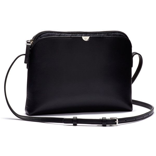 THE ROW Multi-Pouch Calfskin Crossbody Bag (£920) ❤ liked on Polyvore featuring bags, handbags, shoulder bags, navy blue crossbody handbag, pouch handbags, shoulder pouch bag, the row purse and cross body