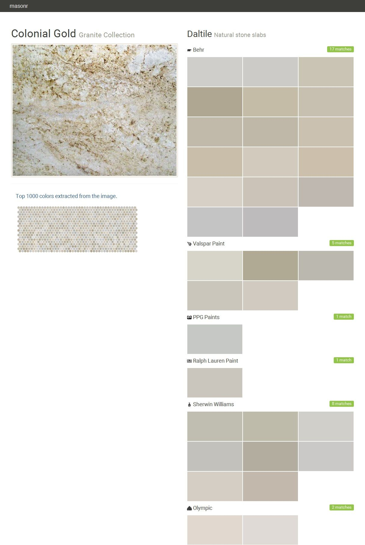 Colonial gold granite collection natural stone slabs for What paint color goes with gold