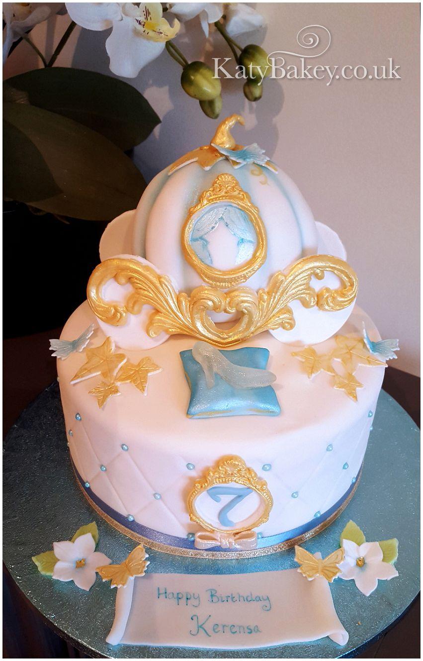 Cinderella carriage cake pumpkin cake Cinderella wwwkatybakeyco