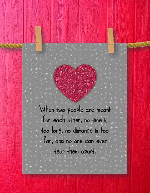 Girlfriend Boyfriend Gift Love Quote By WeLovePrintableArt