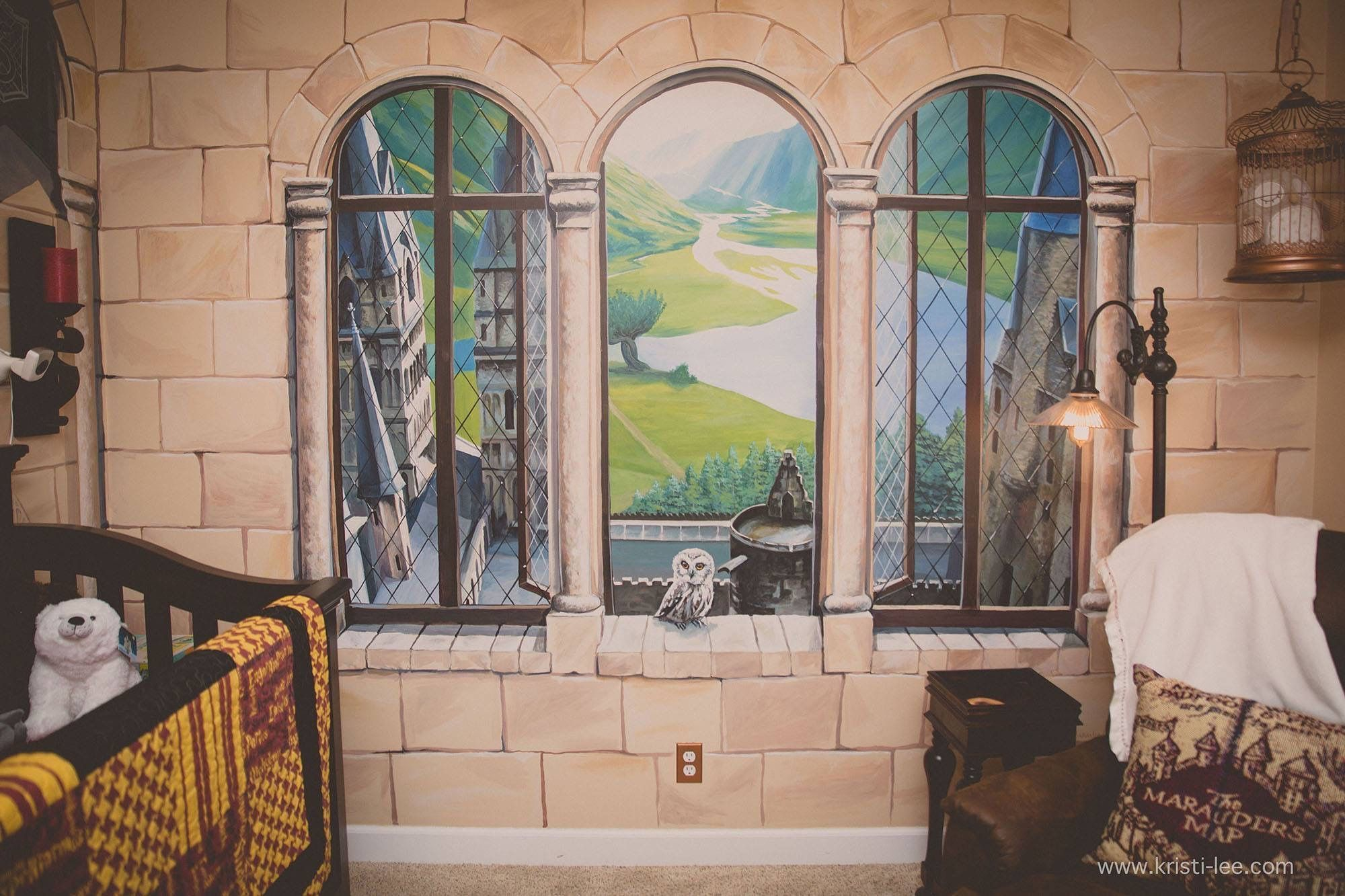 Kaycee And Casey Daniel Went All Out In Creating A Magical Harry Potter Themed Nursery For Son Finley Harry Potter Room Harry Potter Room Harry Potter Costumes In 2020