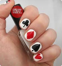 originales me quede con cara poker!! uñas decoradas - Buscar con Google