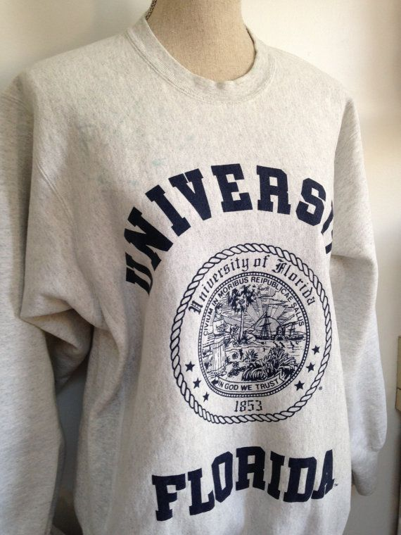 Vintage University of Florida Sweatshirt by 21Vintage on Etsy  d2110fb31