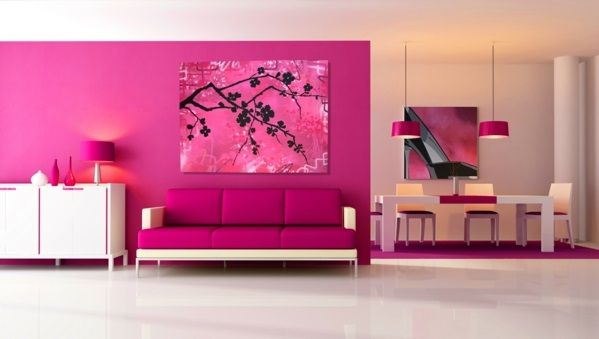 Wall colors for the living room - 100 trendy living ideas for your ...