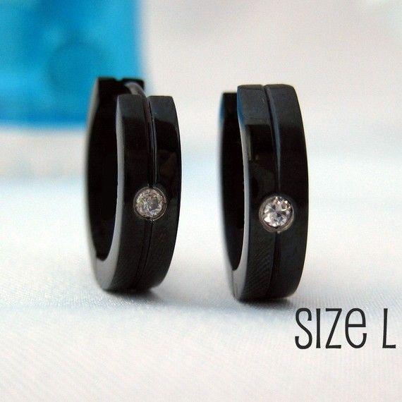 Men S Hoop Earrings With Cz Diamonds