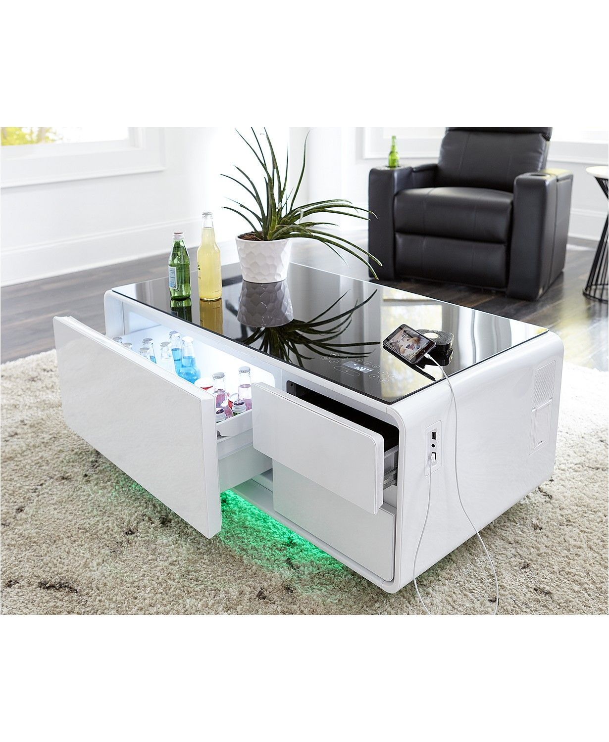 Sobro Smart Storage Coffee Table With Refrigerated Drawer Reviews Furniture Macy S Coffee Table With Storage Coffee Table With Fridge Smart Storage [ 1500 x 1230 Pixel ]