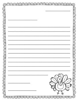 Thanksgiving Themed Friendly Letter Template Can Be Used To Write