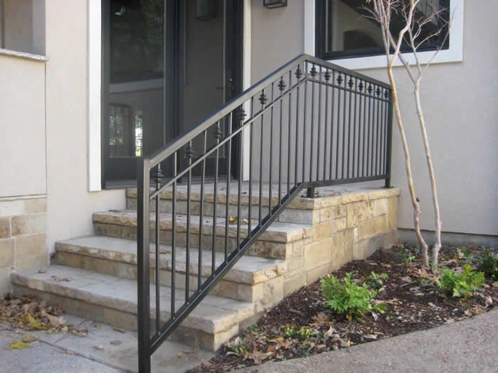 wrod irion deck rail | ... commercial handrails iron railings ...
