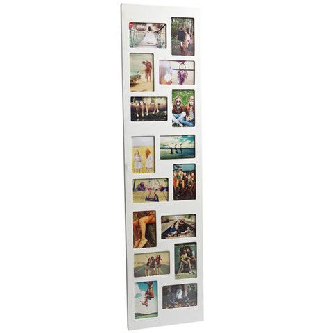 Flat Face 16 Multi Photo Frame - tall thin white frame | Home ...
