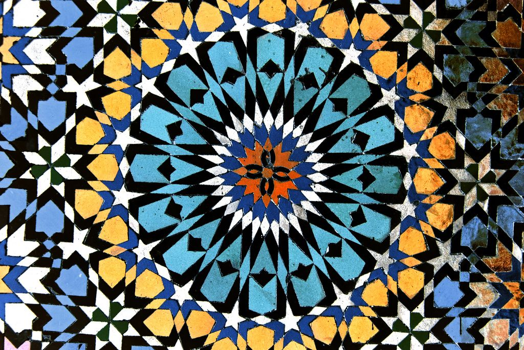 Geometric Tiles, Mosque of Moulay Idriss, Morocco   Islamic art pattern,  Islamic art, Geometric tiles