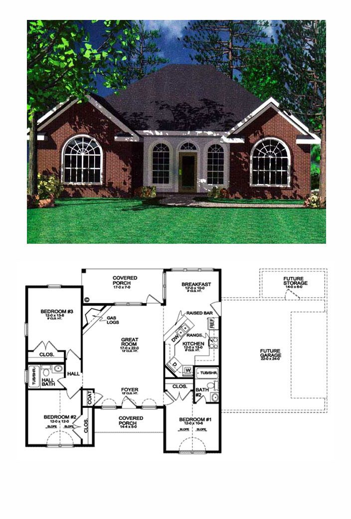 Traditional Style House Plan 59001 With 3 Bed 2 Bath Cottage Floor Plans New House Plans Bungalow House Plans