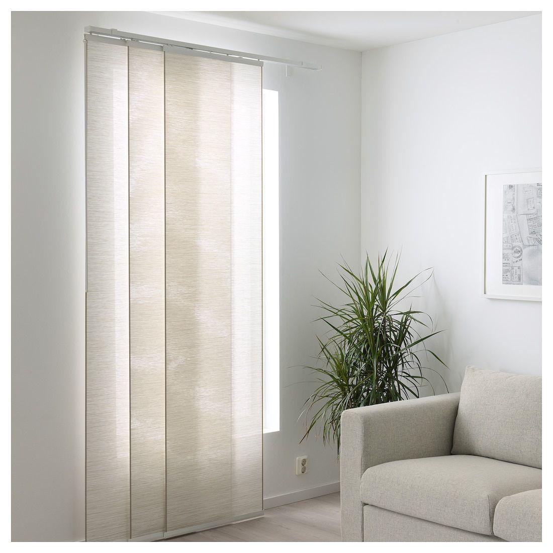 "FÖNSTERVIVA Panel Curtain - White/beige 24x118 """