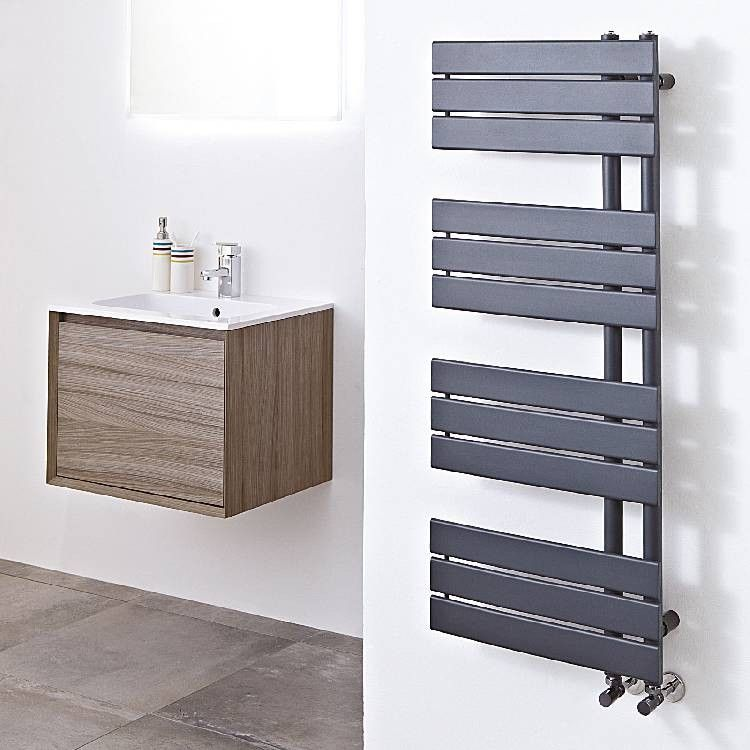 Carly Modern Anthracite Heated Towel Warmer Bathroom Radiators