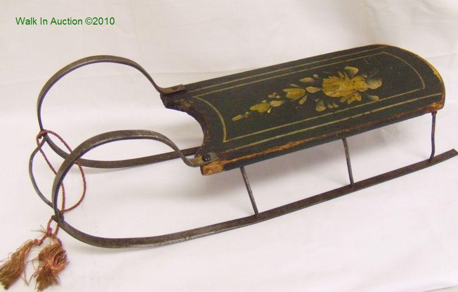 Antique dolls hq price guide sled art pinterest for Vintage sleds