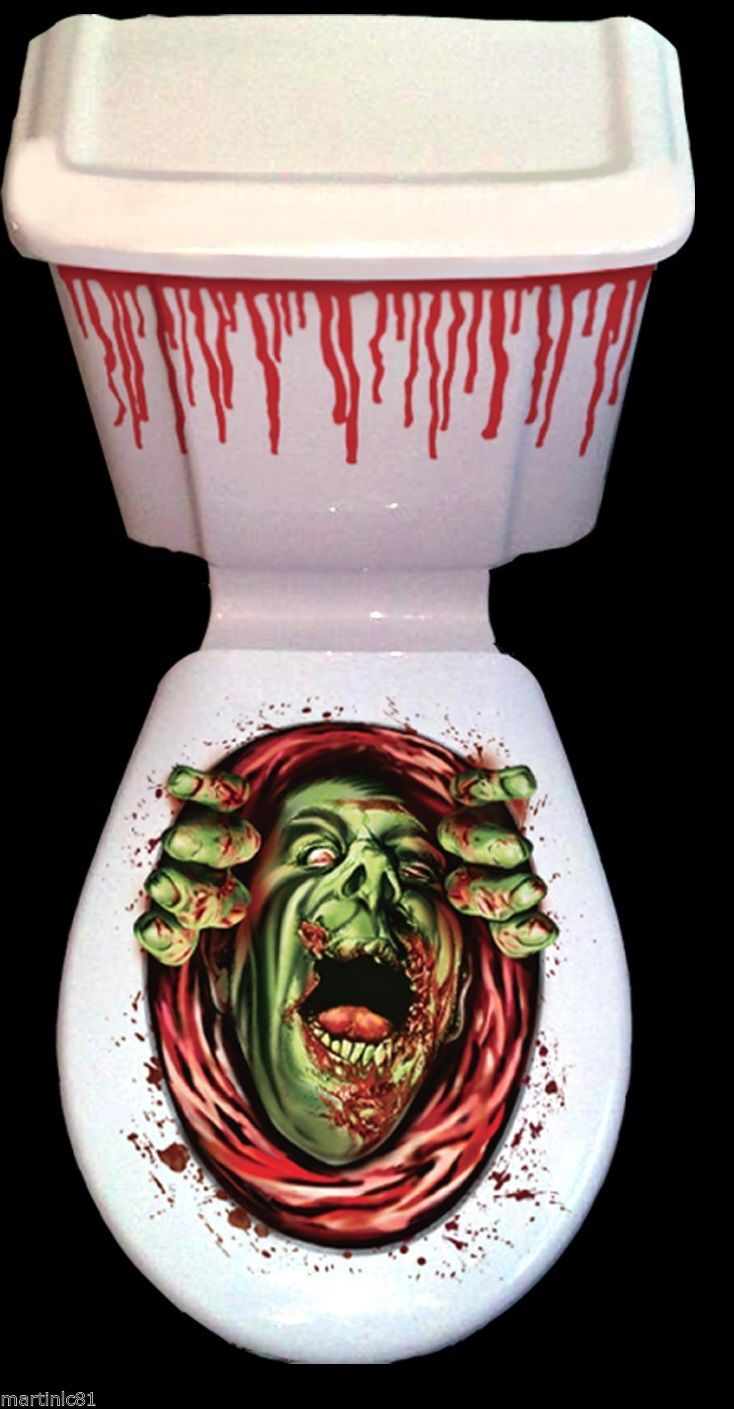 Superb Details About Halloween Toilet Seat Grabber Cover Scary Gmtry Best Dining Table And Chair Ideas Images Gmtryco