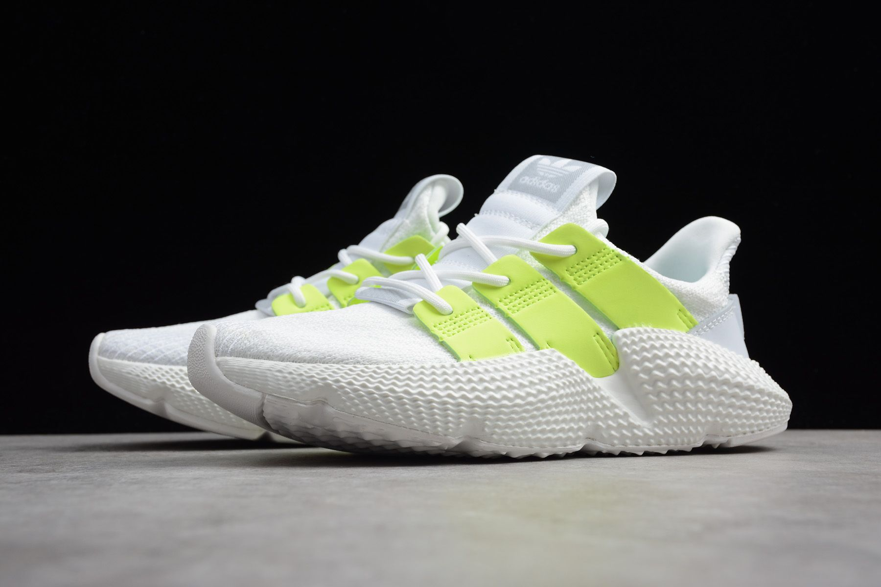 4c0125f8e93f31 Women s adidas Originals Prophere White Volt-Green B37659 in 2019 ...