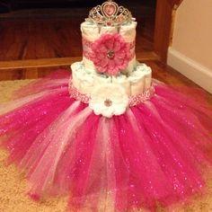 tutu diaper cakes for girls | diaper cakes