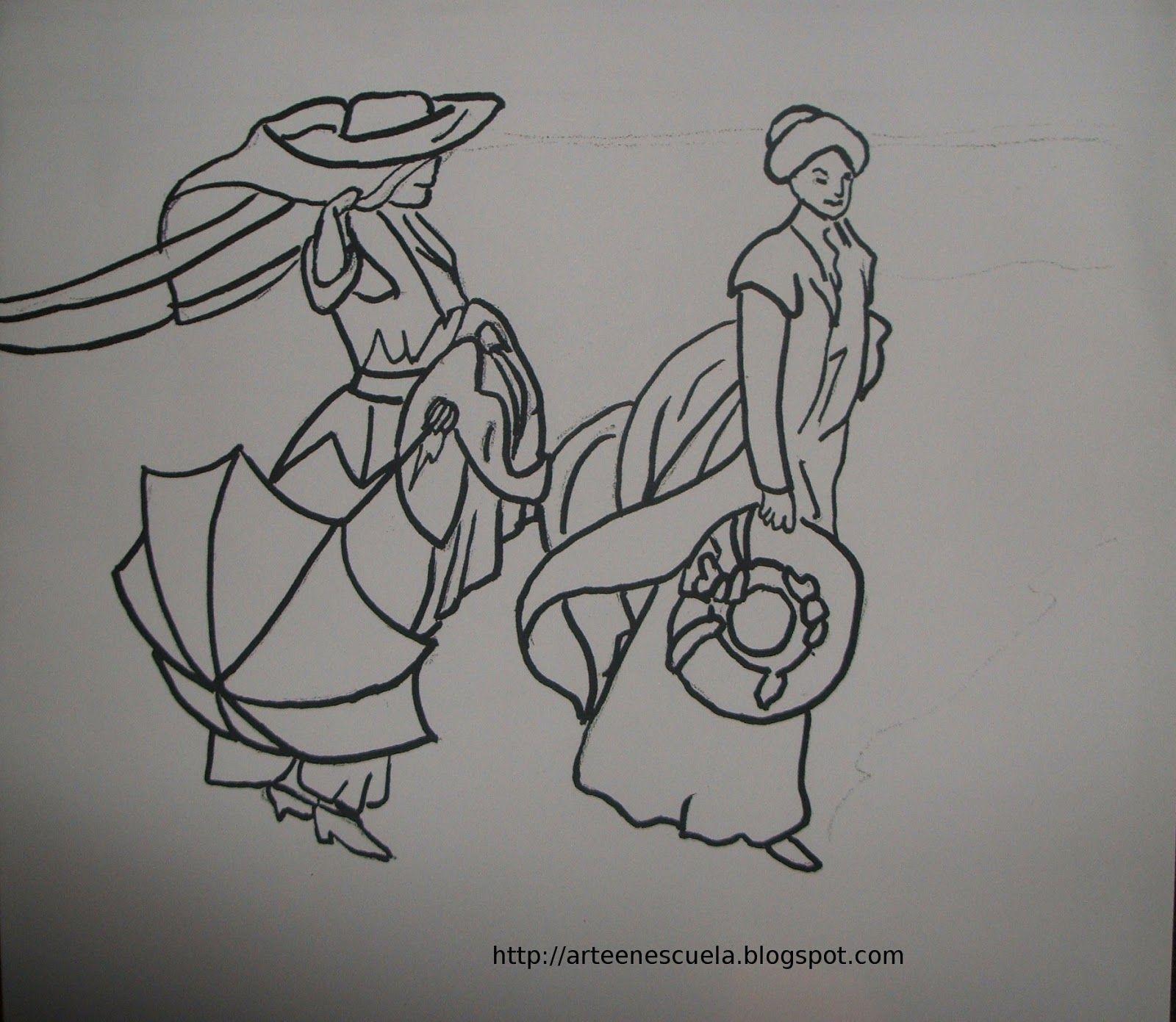 ARTE EN LA ESCUELA: PLANTILLAS DE CUADROS DE SOROLLA | ART | Pinterest