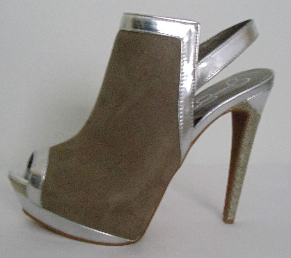 JESSICA SIMPSON NEW Brown Suede Slingback Heels Size 7.5 #JessicaSimpson #Slingbacks