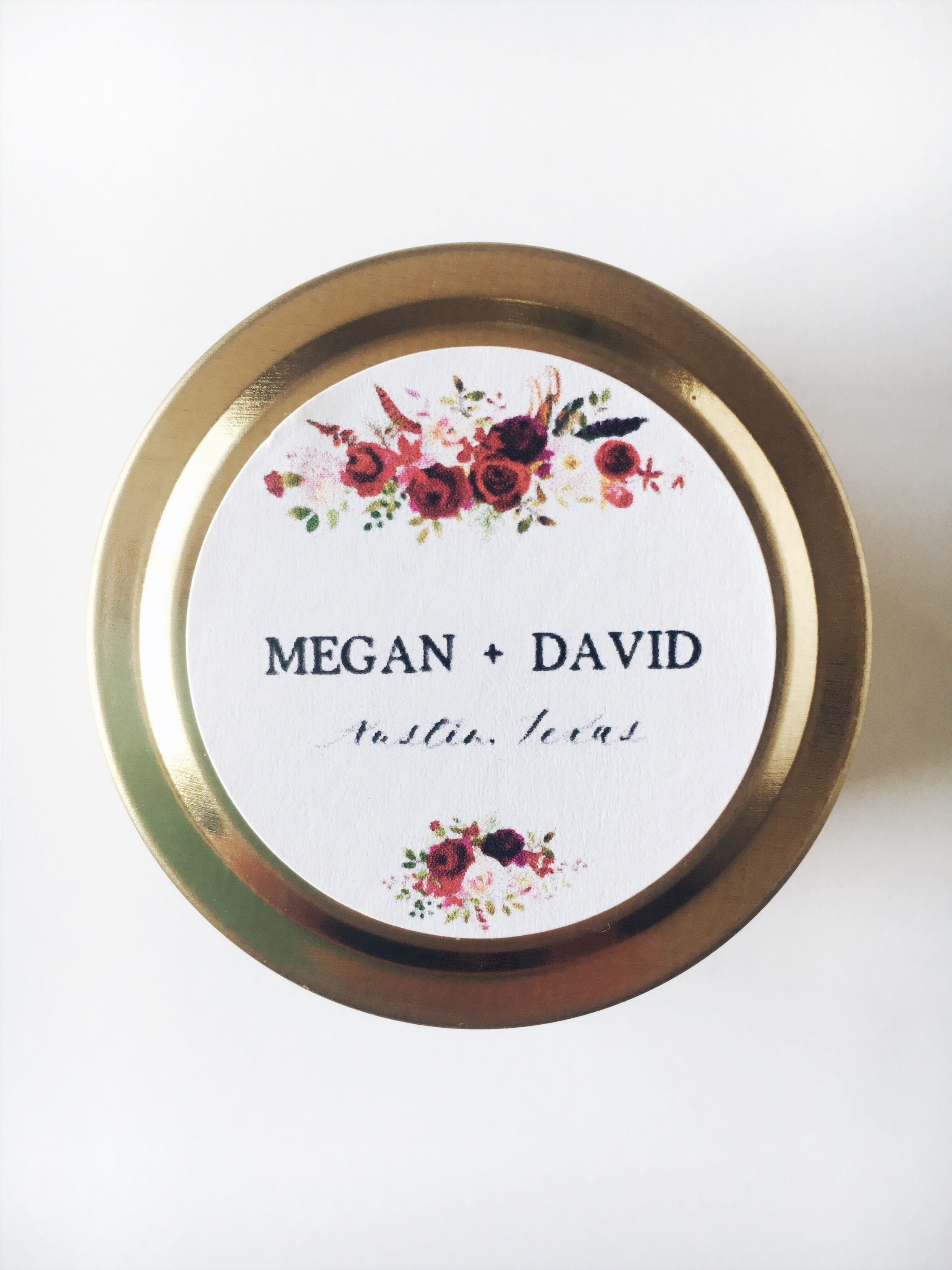 Boho Wedding Favor Candles // Personalized Candles ...