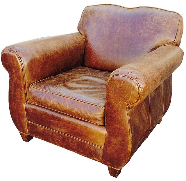 AMAZING Restoration Hardware Distressed French Leather Club Chair Just  Added To The A Life Designed Online