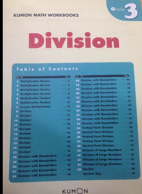 Division kumon | Kumon | Pinterest
