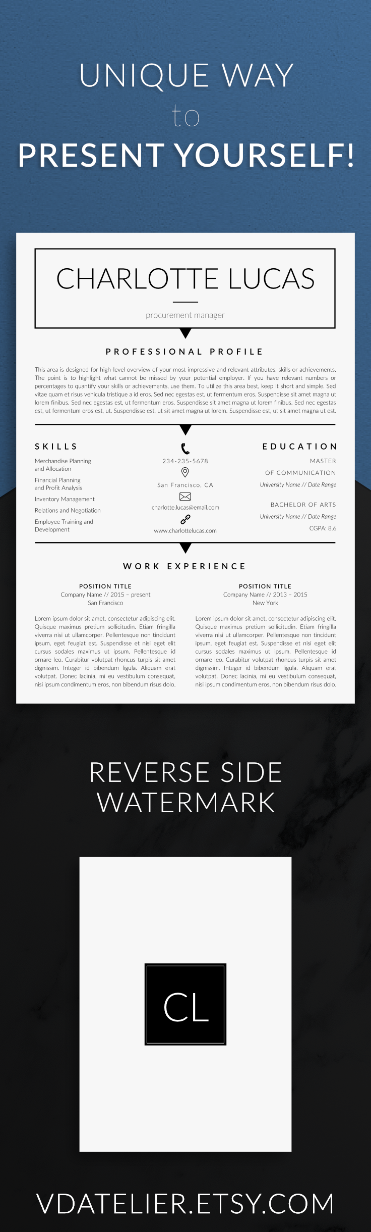 Professional Resume Template for modern job hunters. #resume ...