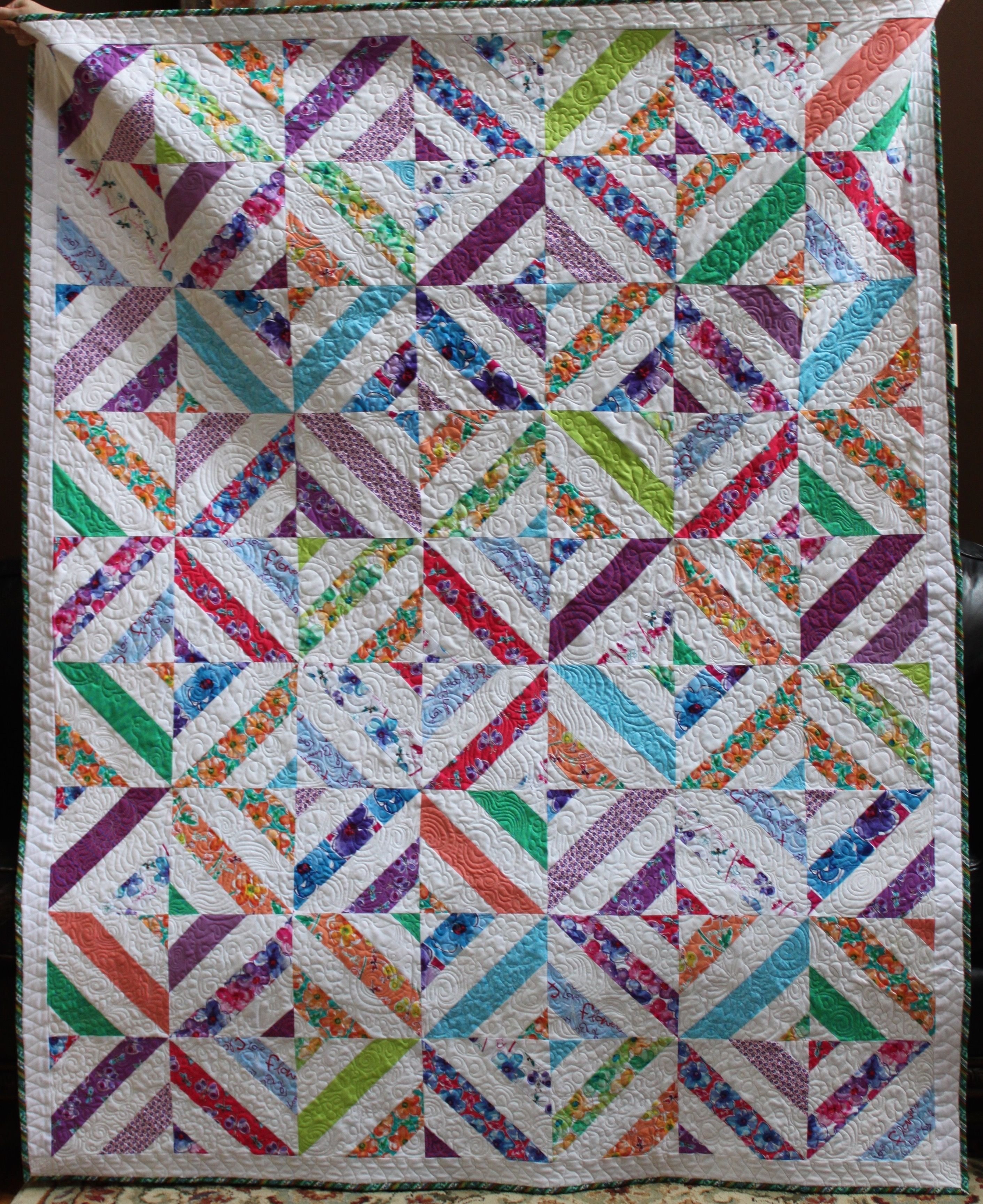Summer in the park quilt. Strip piecing using tubes. tutorial from ... : quilt summer - Adamdwight.com