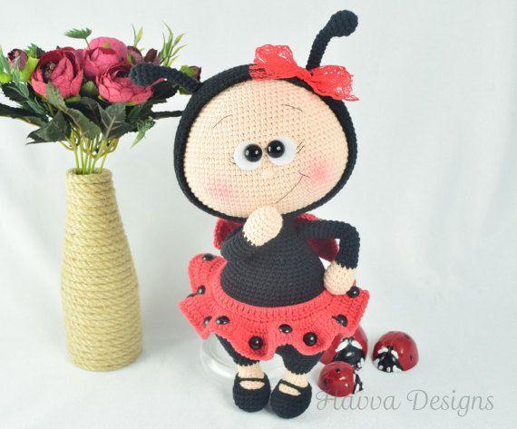 Crochet Pattern - Bonnie With Ladybug Costume (Amigurumi Doll ...