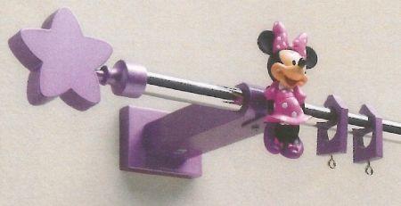Minnie e topolino bastone reggitenda in acciaio per for Decorare la stanza di minnie e topolino