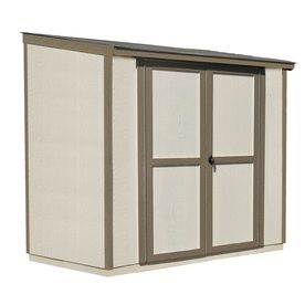 Scottsdale Lean-To Engineered Wood Storage Shed (Common: 8