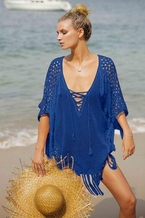 dd15a24377 Pareo Beach Cover Up Floral Embroidery Bikini Swimsuit Swimwear Women Robe  De Plage Beach Tassel Cardigan Bathing Suit Cover Ups