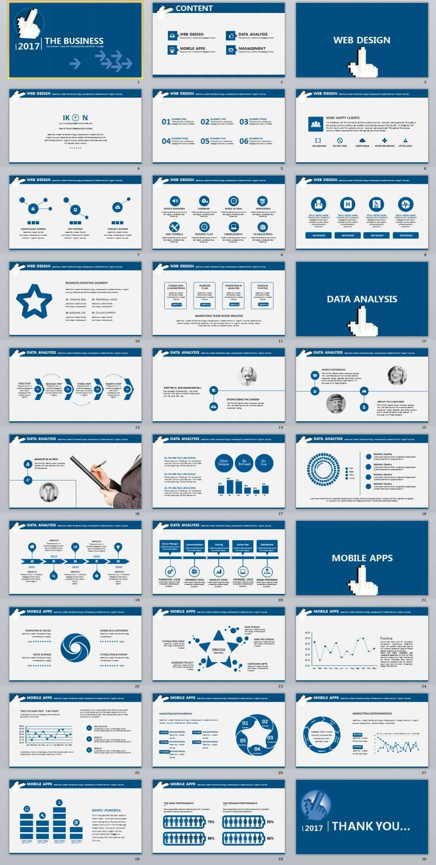 30 blue business powerpoint presentation template business 30 blue business powerpoint presentation template accmission Image collections
