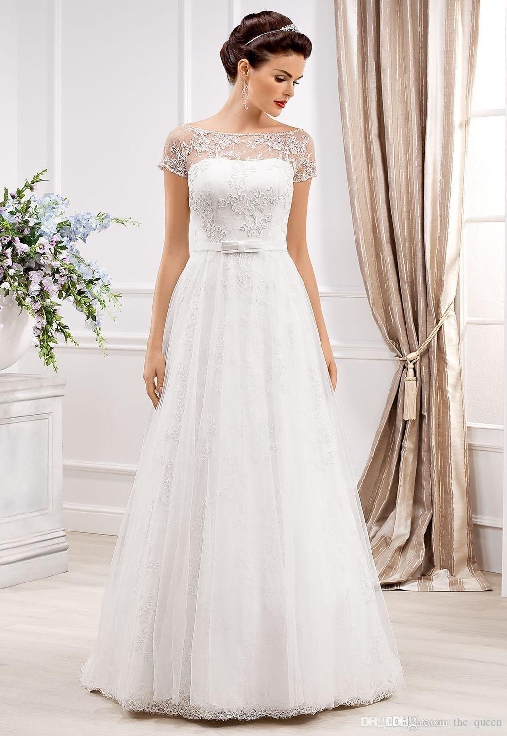 Perfect Wedding Dress T Shirt Ideas : Retro A Line Wedding Dresses ...