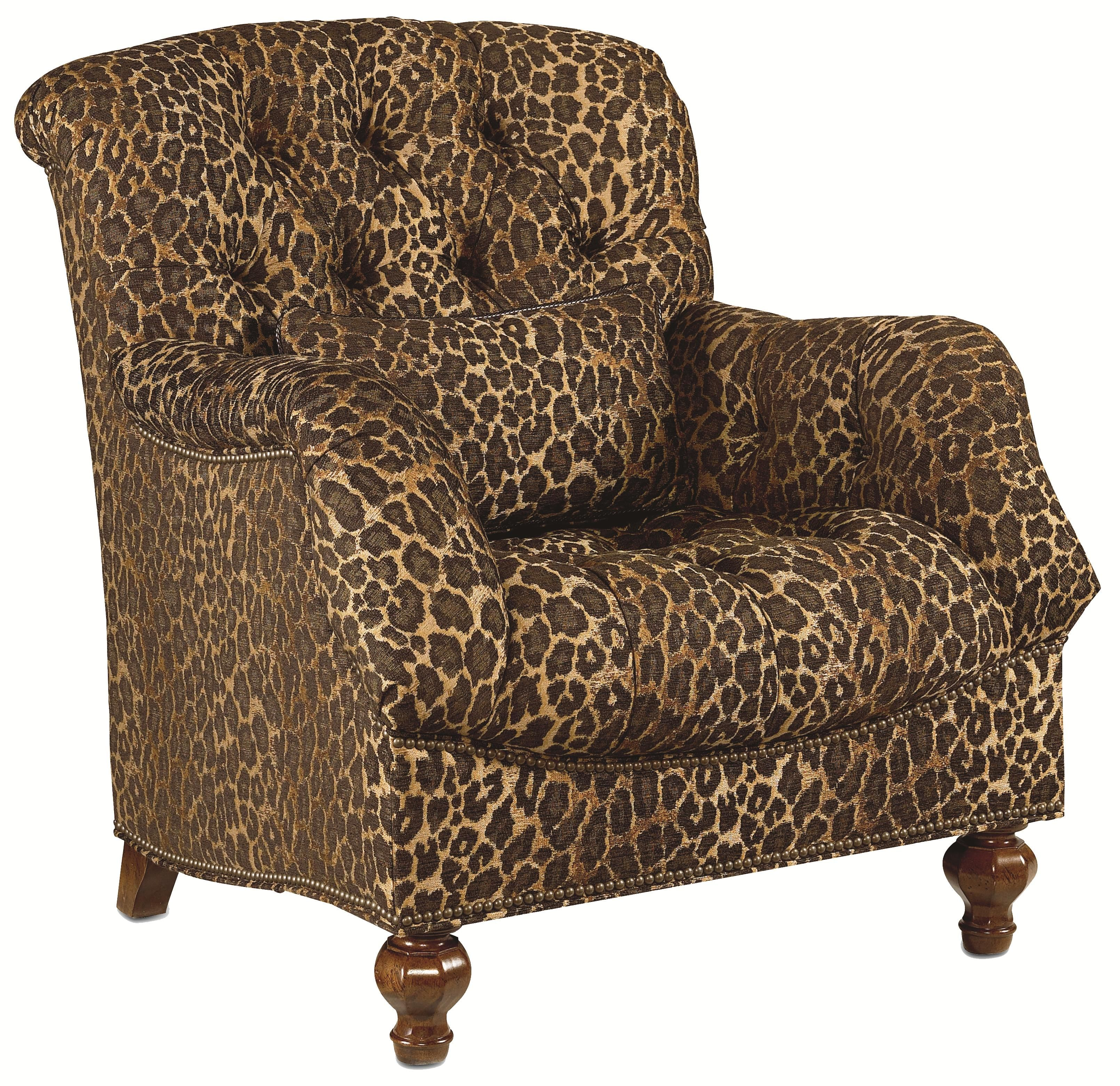 Leopard Print Tufted Chair