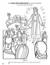 Image Result For Lds Coloring Pages Resurrection Of Jesus Christ