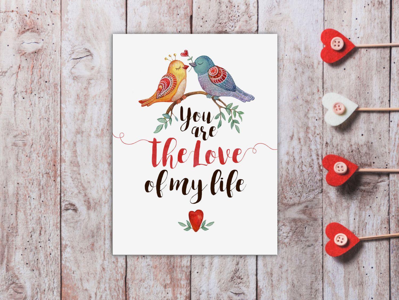 cute anniversary card for him cute love card for husband watercolor