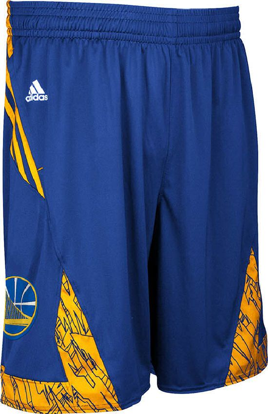 dfae9dda153 Golden State Warriors Blue NBA Pre-Game Authentic Basketball Shorts by  Adidas  49.95
