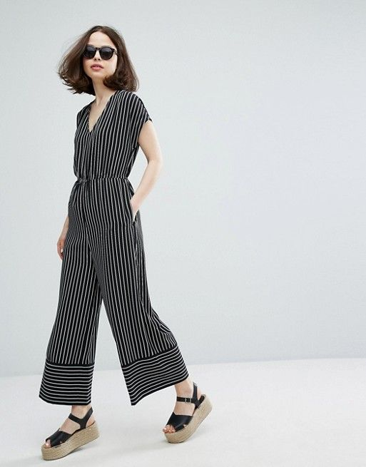 a82a8d1b4b73 Monki Stripe Wide Leg Jumpsuit