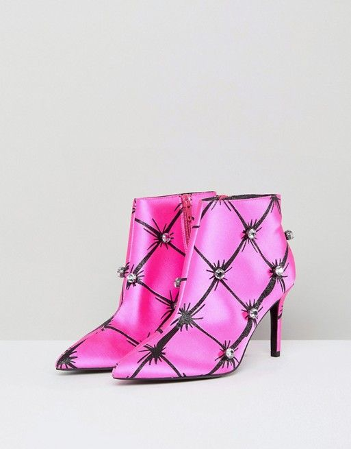 ASOS X MARY BENSON Platform Ankle Boots