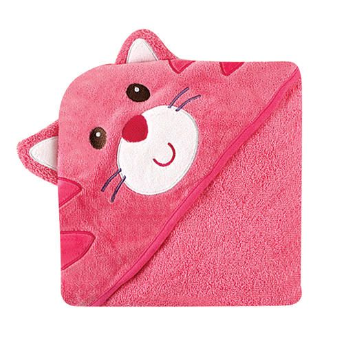 "Luvable Friends Velour Animal Hooded Towel, Cat - Baby Vision - Babies ""R"" Us"